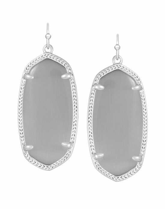 Kendra Scott Elle Silver Earrings in Slate Wedding Earring photo