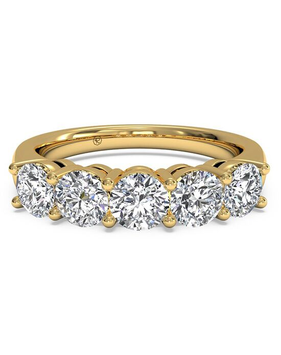 Ritani Women's Five-Stone Diamond Wedding Band - in 18kt Yellow Gold (1.00 CTW) Gold Wedding Ring