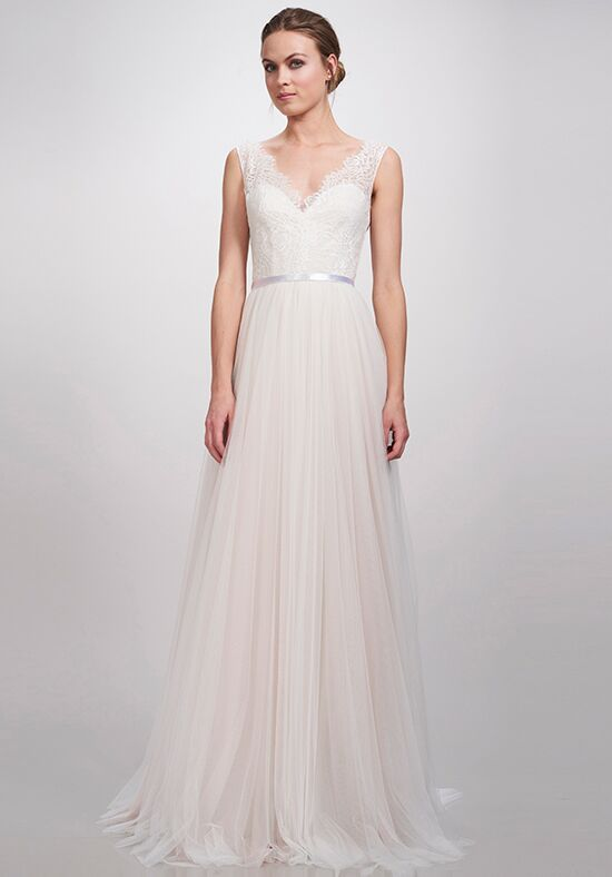 sweetheart a line wedding dress