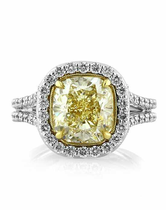 Mark Broumand 4.65ct Fancy Light Yellow Cushion Cut Diamond Engagement Ring Engagement Ring photo