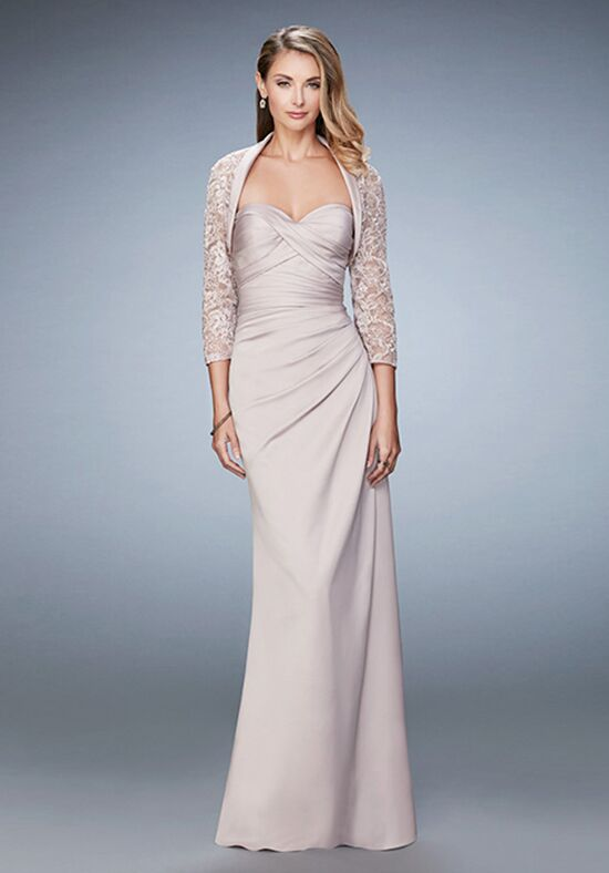 La Femme Evening 21776 Champagne Mother Of The Bride Dress