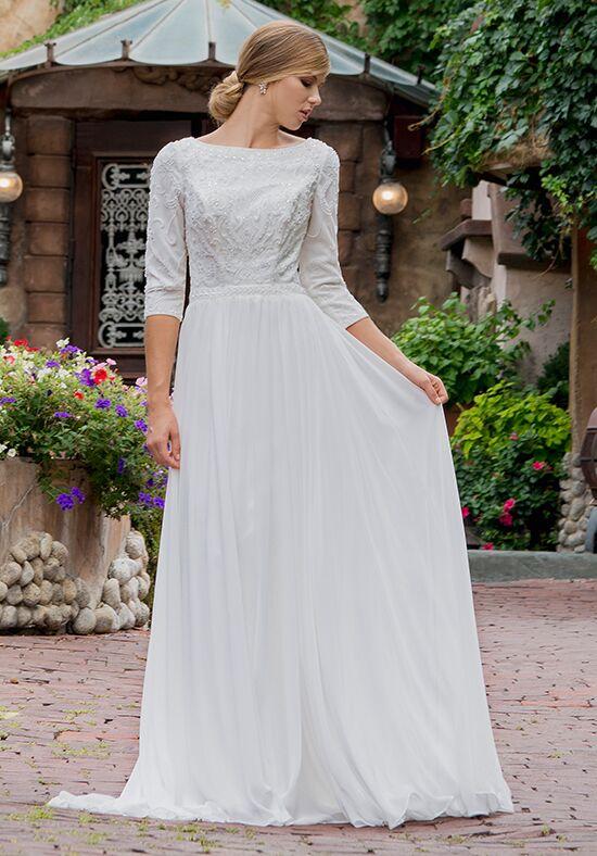 A Line Wedding Dress with Straps