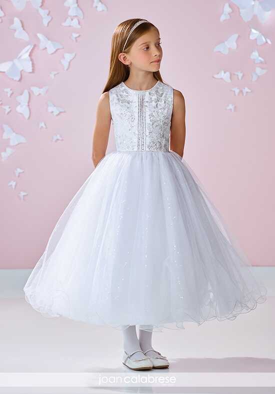 Joan Calabrese by Mon Cheri 117337 White Flower Girl Dress