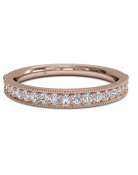 Ritani Women's Diamond Milgrain Wedding Band - in 18kt Rose Gold (0.24 CTW) Rose Gold Wedding Ring