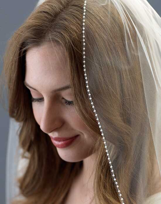 USABride All Pearl Beaded Edge Wedding Veil (1 Layer) VB-5059 Veil