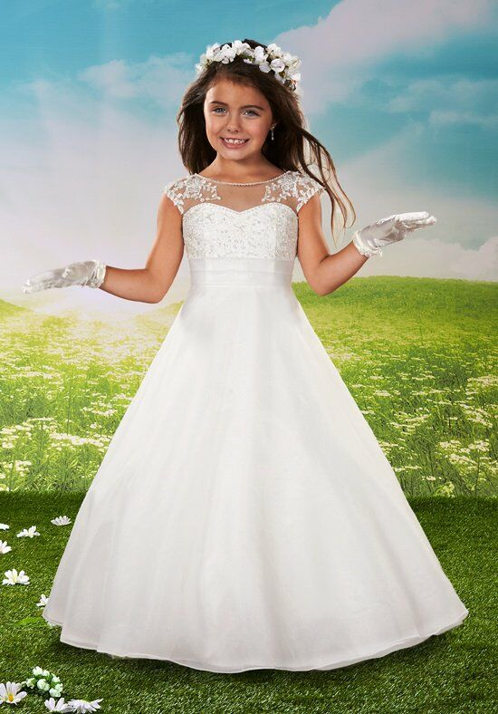 Cupids by Mary's F432 White Flower Girl Dress