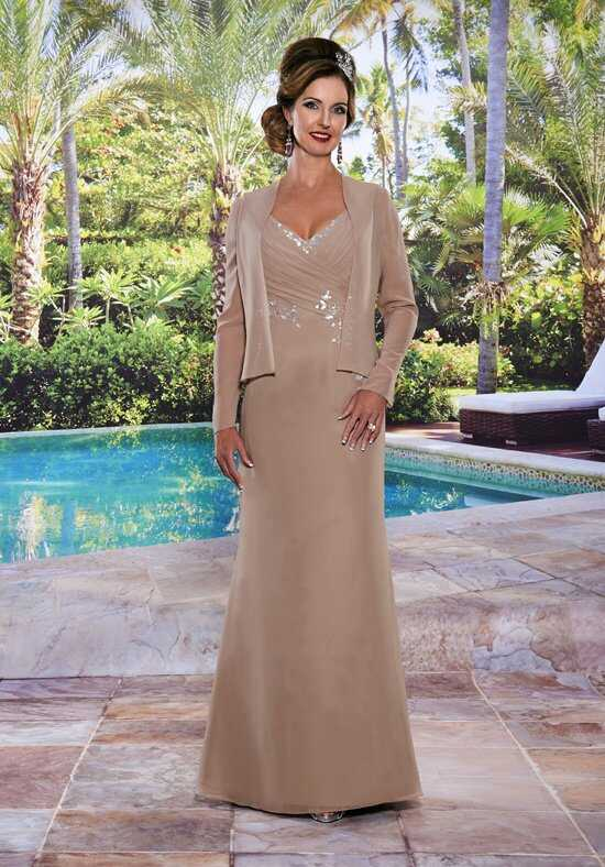Beautiful Mothers by Mary's M2487 Brown Mother Of The Bride Dress