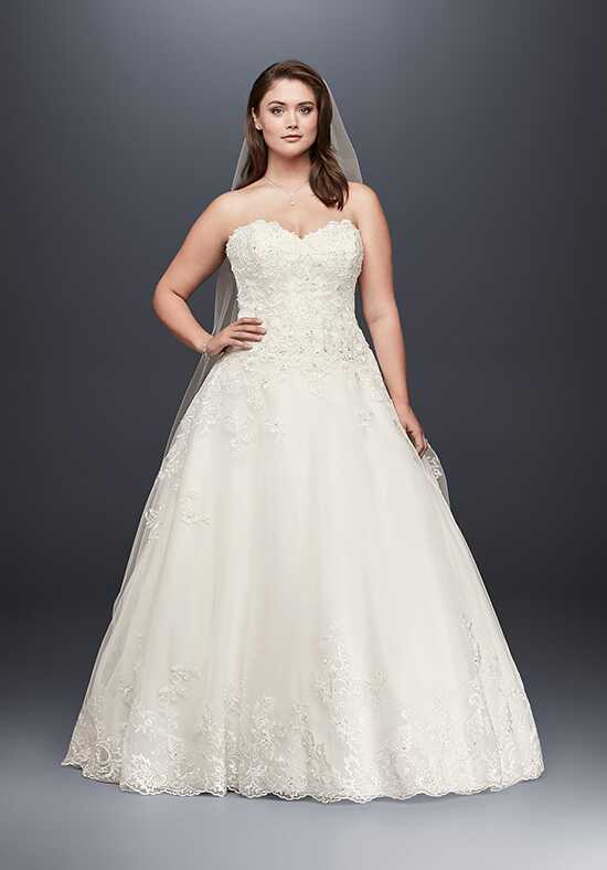 David's Bridal Jewel Style 9V3836 Ball Gown Wedding Dress