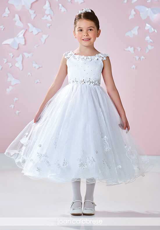 Joan Calabrese by Mon Cheri 117362 Ivory Flower Girl Dress