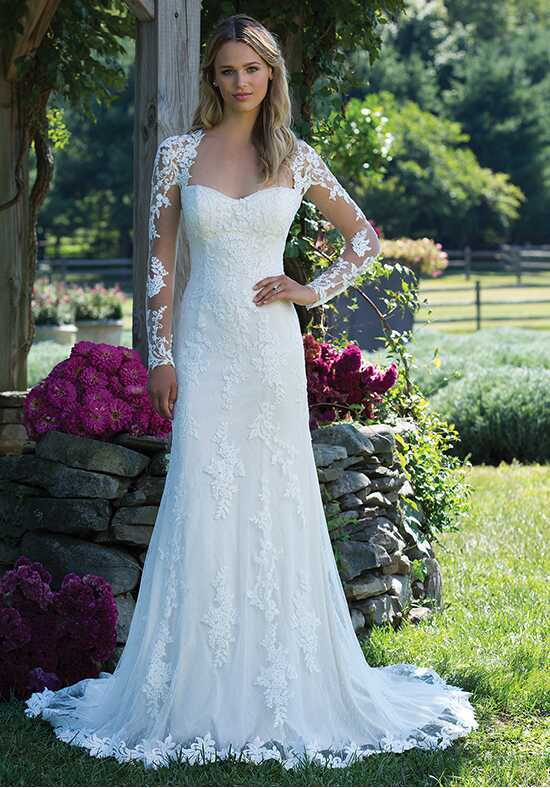 Sincerity Bridal 3981 Sheath Wedding Dress