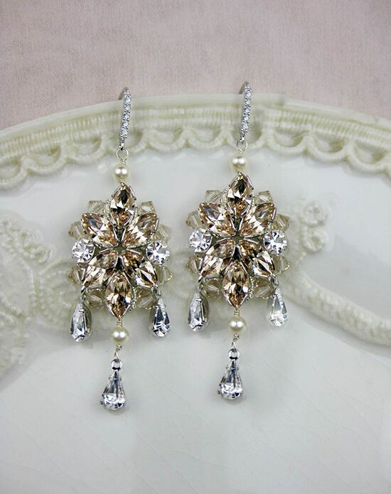 Everything Angelic Blanca Earrings - e321 Lt Silk Wedding Earring photo