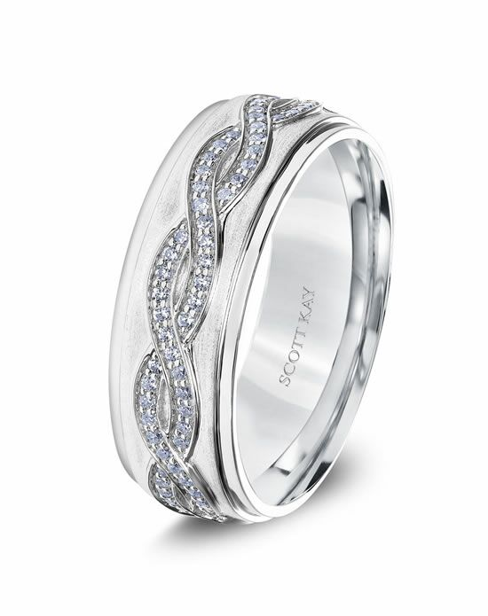 Scott Kay G4057RC8 Platinum Wedding Ring