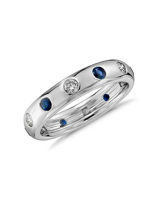 Monique Lhuillier Fine Jewelry Starlight Sapphire and Diamond Ring White Gold Wedding Ring
