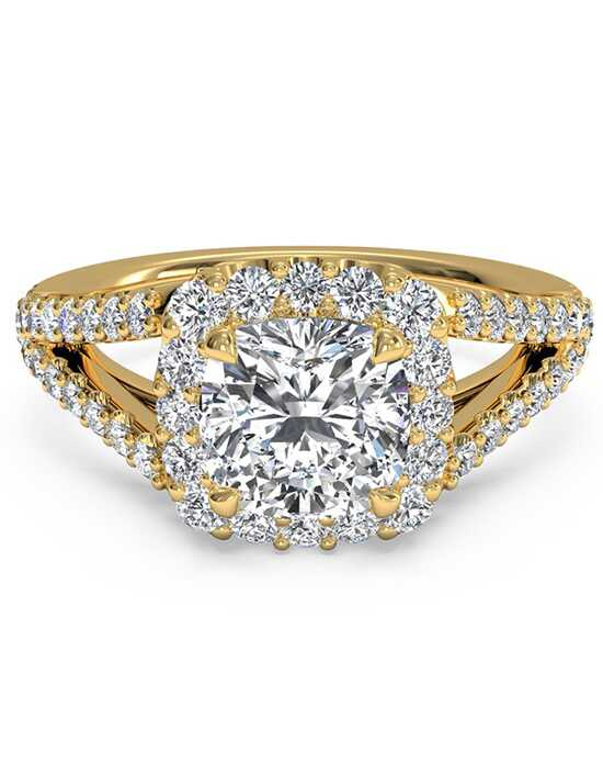 Ritani Glamorous Cushion Cut Engagement Ring