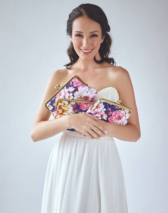 Davie & Chiyo | Clutch Collection Violetta Clutch Set Blue, Ivory, Pink, Purple, Yellow Clutches + Handbag