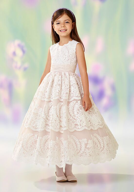 Joan Calabrese by Mon Cheri 118309 Brown Flower Girl Dress