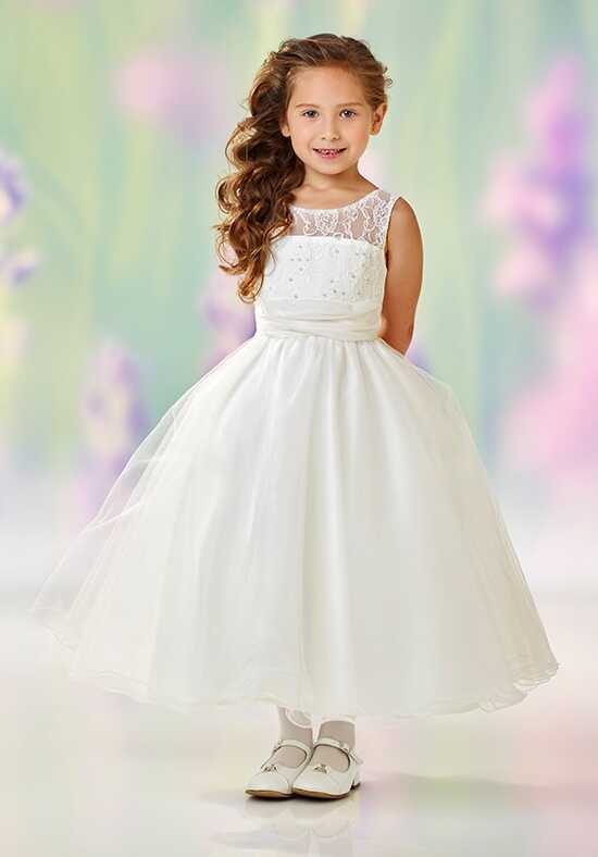 Joan Calabrese by Mon Cheri 118325 Ivory Flower Girl Dress