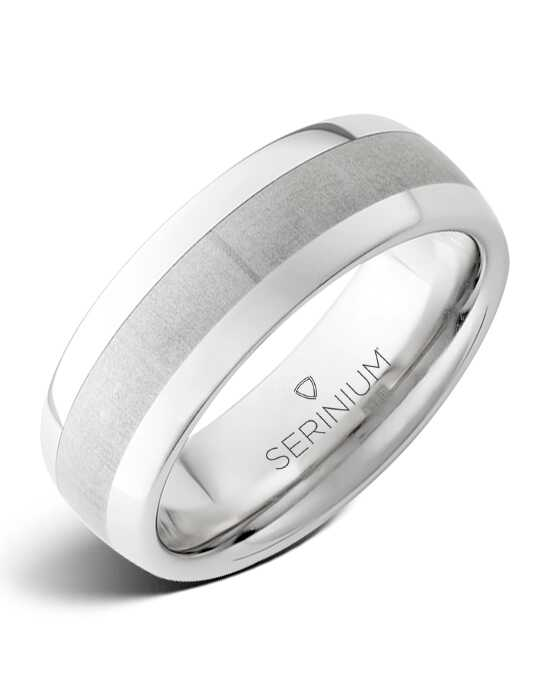 Serinium® Collection Soho — Satin Finish Serinium® Ring-RMSA002223 Serinium® Wedding Ring