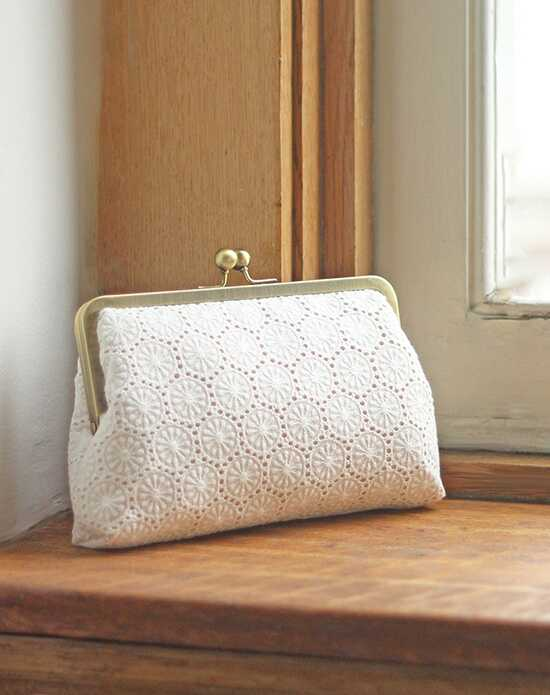 Davie & Chiyo | Clutch Collection Ophelia Clutch Ivory, Champagne Clutches + Handbag