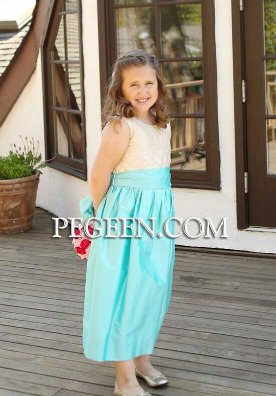 Pegeen.com 409 Black Flower Girl Dress