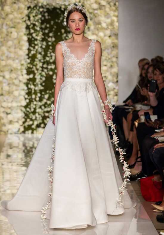 Reem Acra I'm On Cloud Nine Ball Gown Wedding Dress