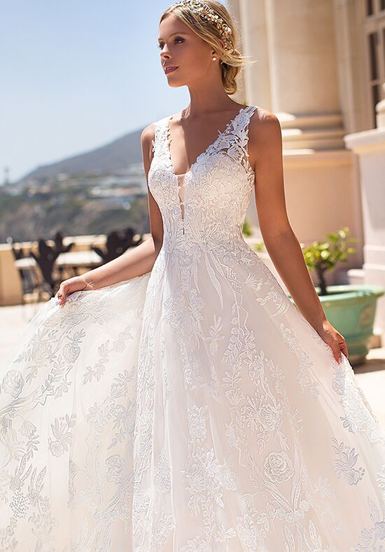 Moonlight Couture H1376 A-Line Wedding Dress