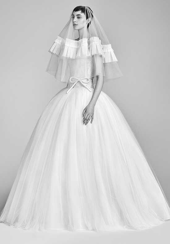 Viktor&Rolf Mariage Voluminous Sugar Flower Tulle Gown Ball Gown Wedding Dress