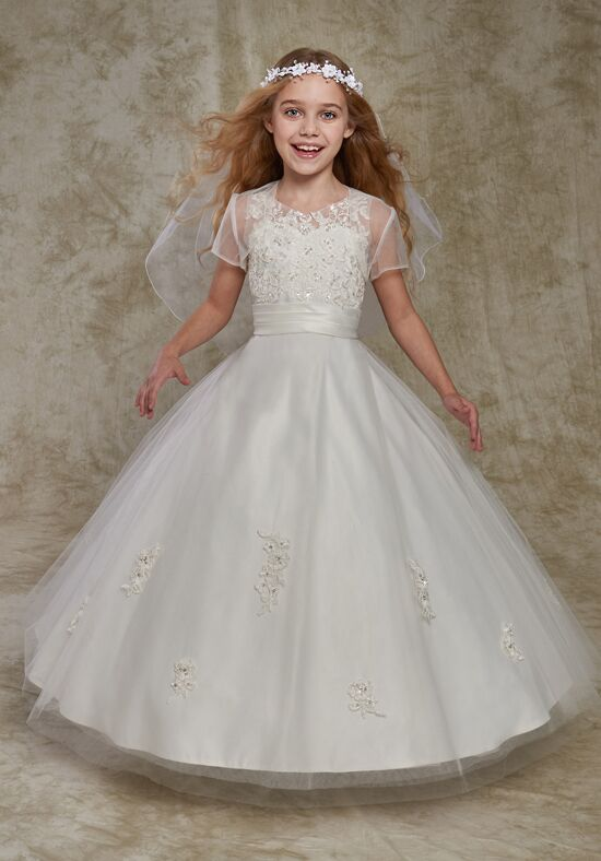 Cupids by Mary's F535 Ivory Flower Girl Dress