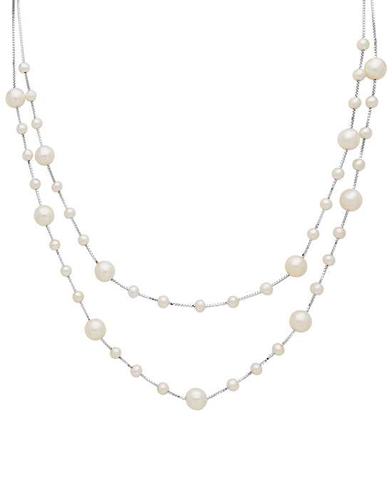Shane Co. 4-8mm Cultured Freshwater Pearl Necklace in Sterling Silver Wedding Necklace photo