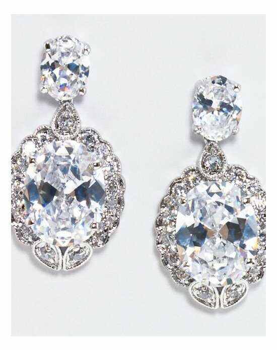 Anna Bellagio CHARLOTTE GLAMOROUS CUBIC ZIRCONIA DROP EARRING Wedding Earring photo