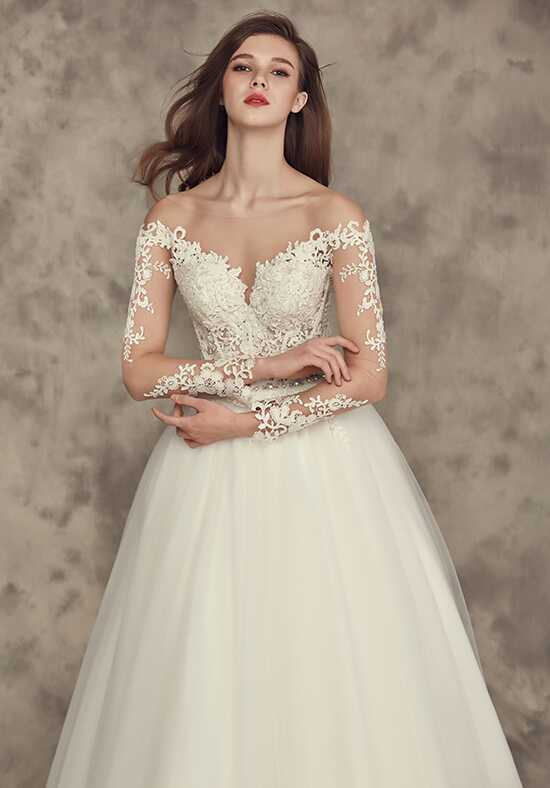 Calla Blanche 16252 Crystal Ball Gown Wedding Dress