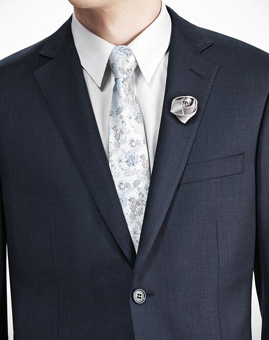 Generation Tux Notch Lapel Modern Fit Navy Blue Suit Wedding Tuxedo ...