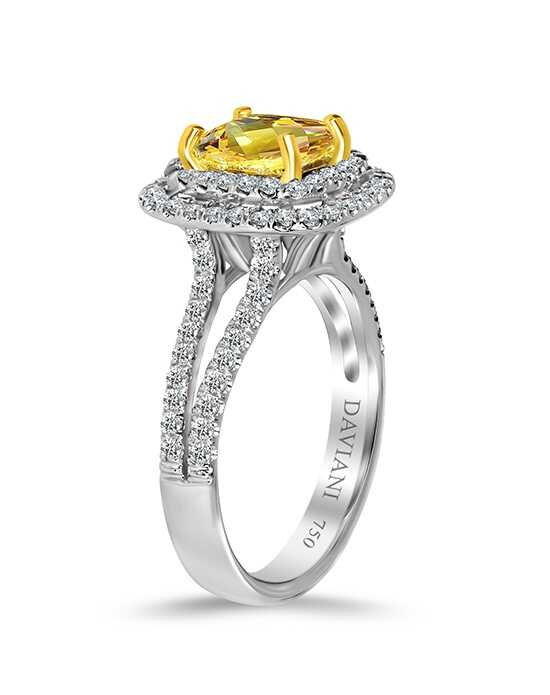 Daviani Love Links Collection Glamorous Cushion Cut Engagement Ring