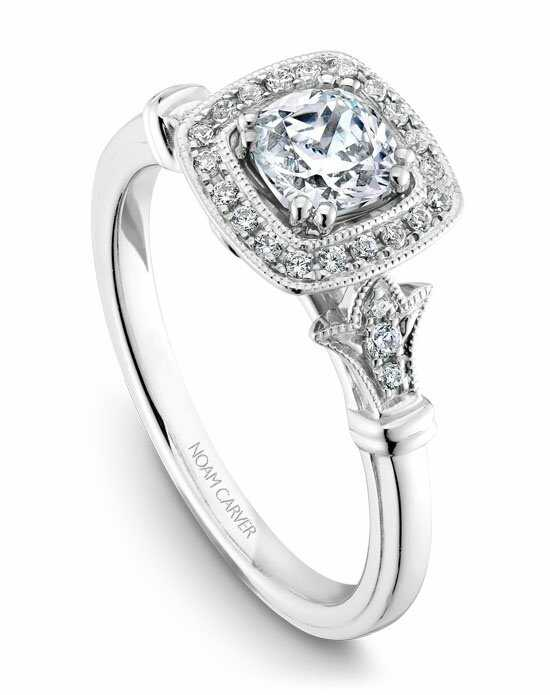 Noam Carver Vintage Cushion Cut Engagement Ring