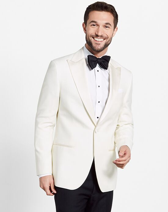 The Black Tux White Jacket Tuxedo Ivory