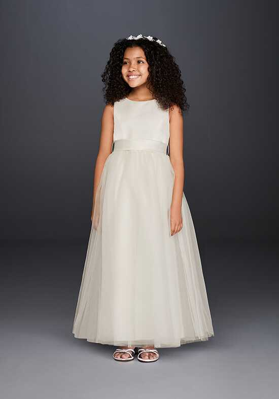 David's Bridal David's Bridal Style S1038 Ivory Flower Girl Dress