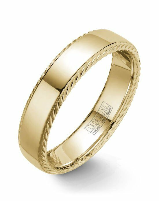 CrownRing WB-007R6Y-M10 Gold Wedding Ring
