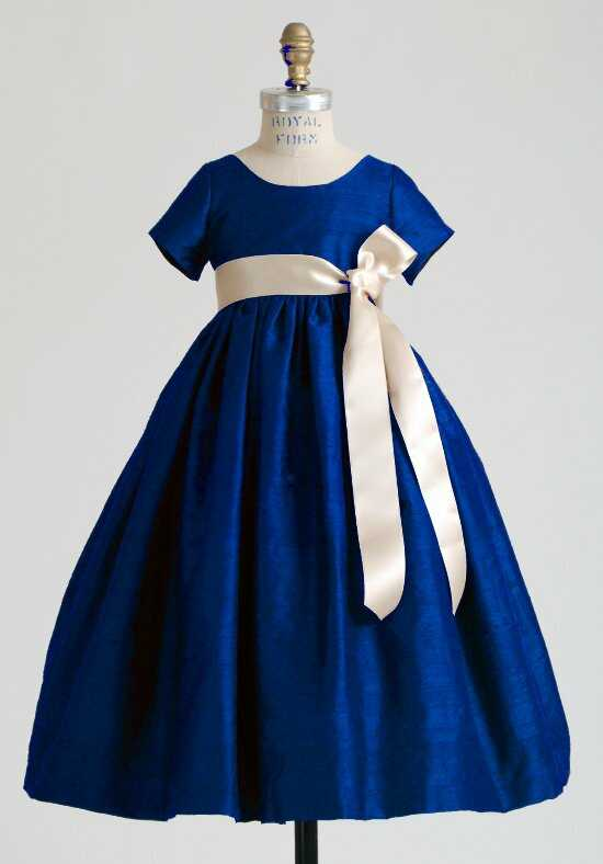 Elizabeth St. John Children Katerina Blue Flower Girl Dress