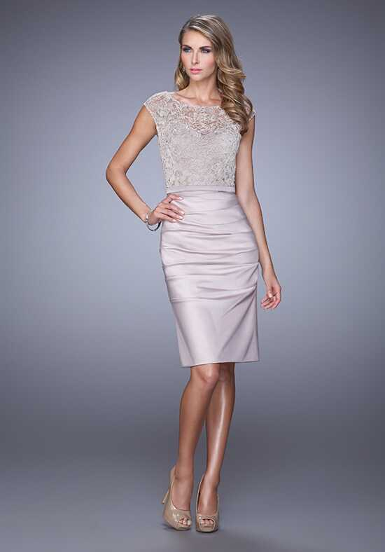 La Femme Evening 21633 Champagne Mother Of The Bride Dress