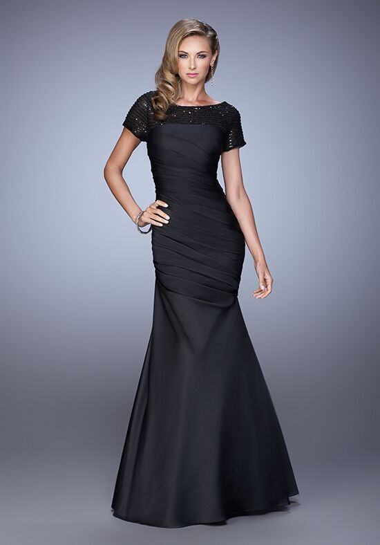 La Femme Evening 21670 Black Mother Of The Bride Dress