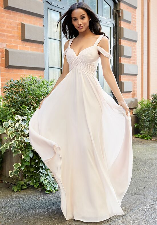 Hayley Paige Occasions 5801 V-Neck Bridesmaid Dress