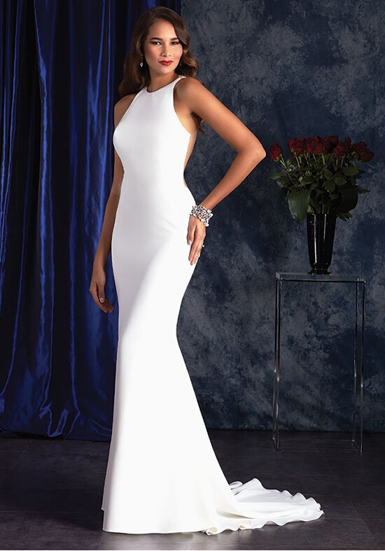 Alfred Angelo Sapphire Bridal Collection 404 Sheath Wedding Dress