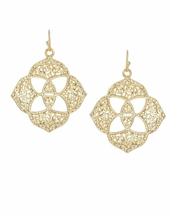 Kendra Scott Dawn Medallion Earrings in Gold Wedding Earring photo