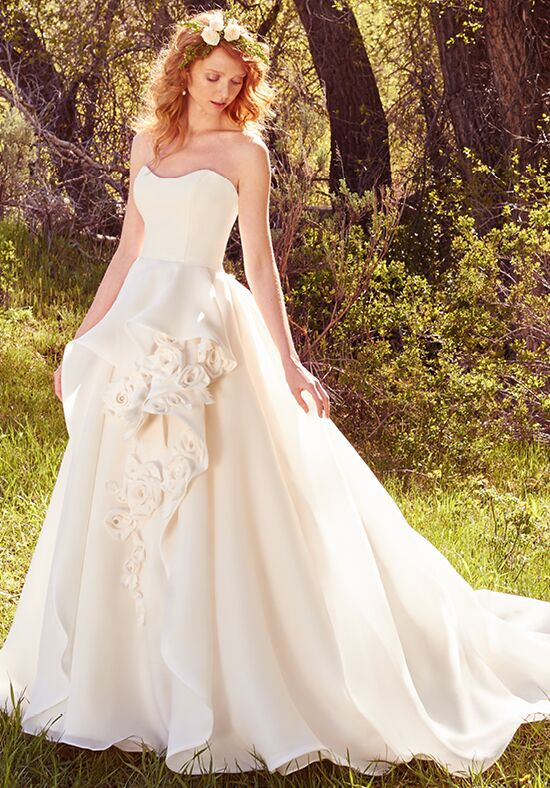 Maggie sottero bianca wedding dress the knot for Who carries maggie sottero wedding dresses