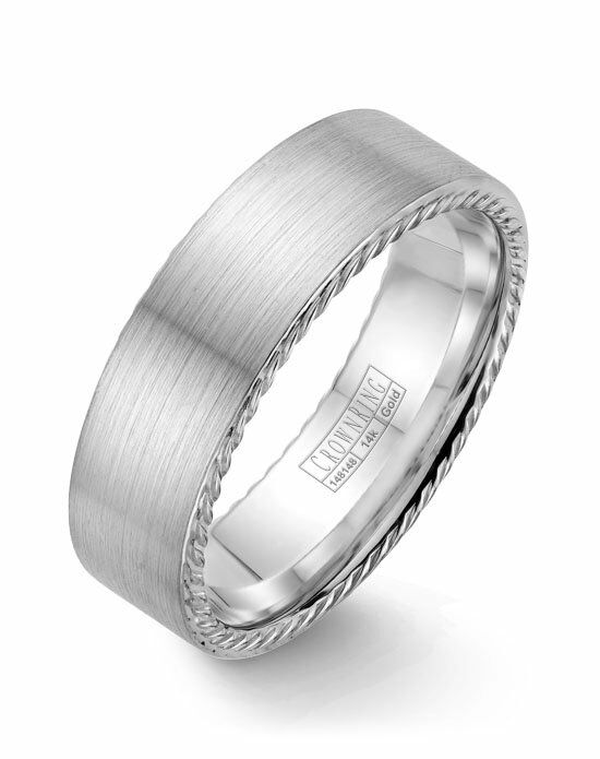 CrownRing WB-009R7W-M10 White Gold Wedding Ring