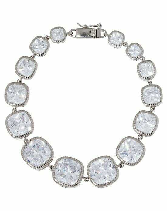 Thomas Laine Lucille Cushion Cut Bracelet - Silver Wedding Bracelet photo