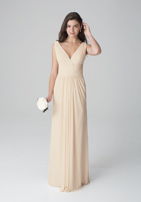 Bill Levkoff 1277 V-Neck Bridesmaid Dress