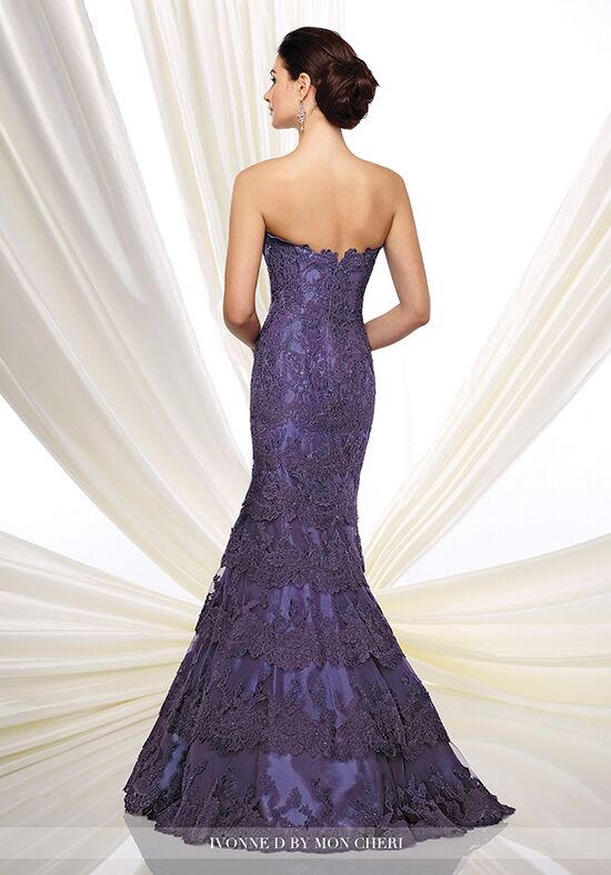 Ivonne D. 216D49 Purple Mother Of The Bride Dress