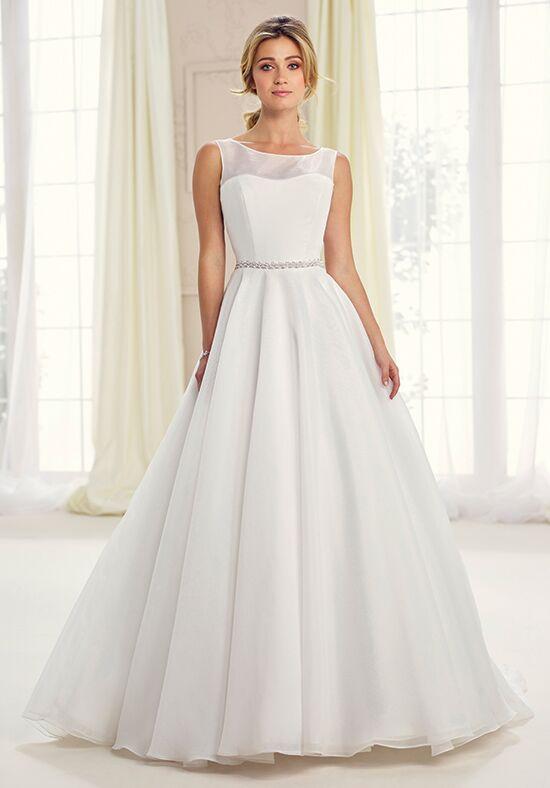 A-line wedding dress with illusion neckline