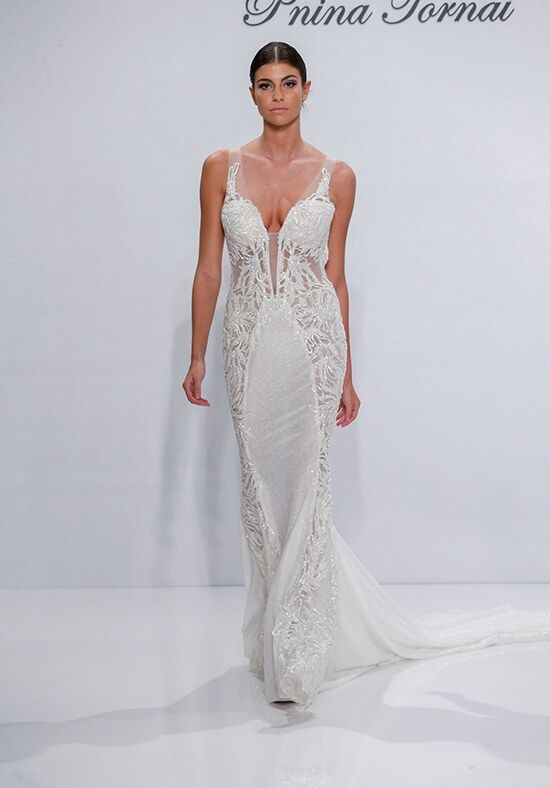 Pnina Tornai for Kleinfeld 4520 Sheath Wedding Dress